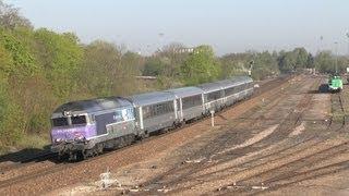 SNCF CC 72100 im IC und TER Verkehr zwischen Paris und Belfort auf der Ligne 4 + Teil 1 +