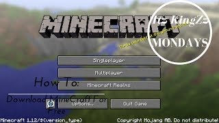 Tutorial: How To Download MineCraft For Free (2017)