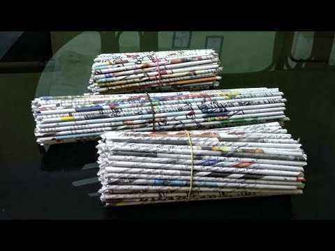 How to make a newspaper jewellery box(UNIQUE)