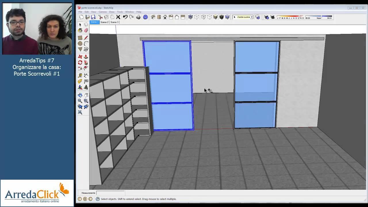 Dividere gli spazi in casa con porte scorrevoli for Piani di casa con due porte anteriori