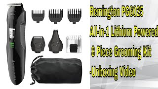 Remington PG6025 All-in-1 Lithium Powered 8 Piece Grooming Kit-Trimmer - Unboxing Video