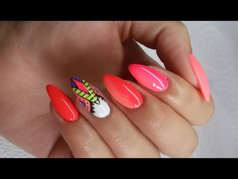 Aztec nails and ombre