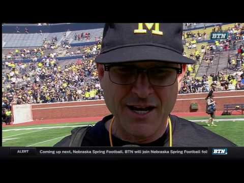 Jim Harbaugh Post-Spring Game Interview 4-15-17