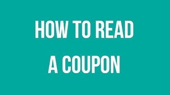 Couponing for Beginners - How to Read a Coupon