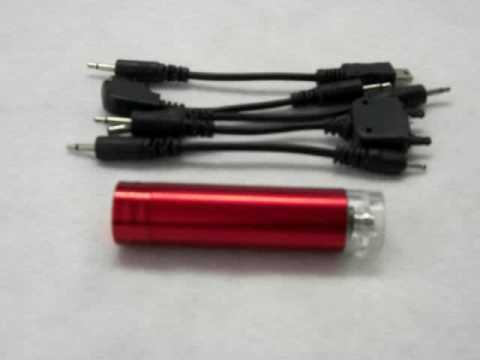 Lipstick size AA Emergency charger - Nokia, Samsung, Sony Ericsson, Mini USB