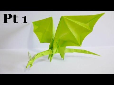 Origami Simple Dragon 折り紙 折り方 シンプルなドラゴン