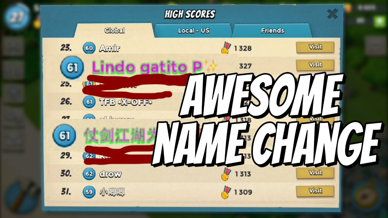 how to change get your name to pink and green boom beach iosandroid new tutorial