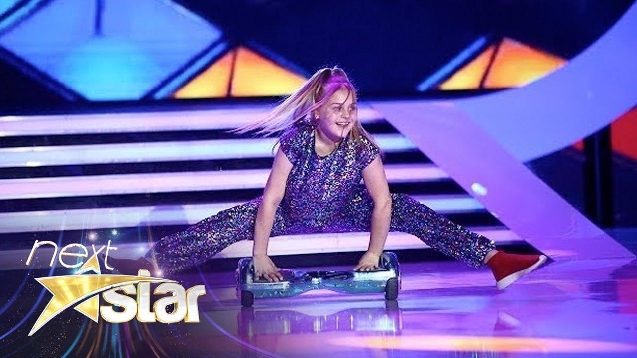 "Ana Beregoi, dans spectaculos pe hoverboard la ""Next Star"""