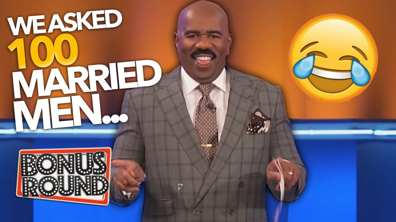 Download STEVE HARVEY Asks 'We Asked 100 Married Men' Funny Family Feud Answers!