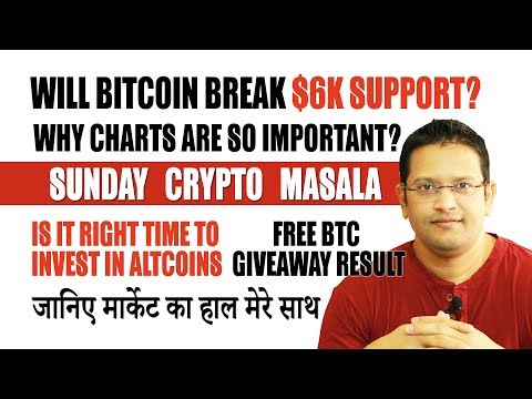 Will Bitcoin Break $6k support? Charting will always give you profit. Its time to invest in Altcoins
