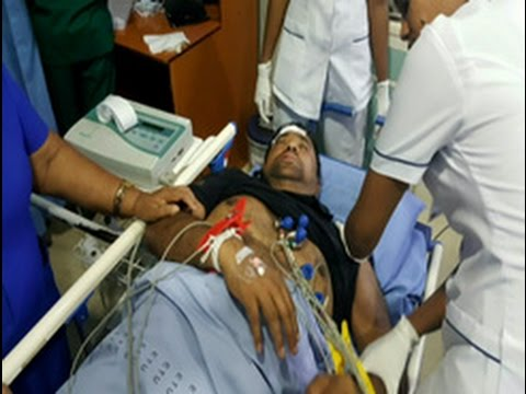 Rohitha Abeygunawardena in hospital following accident during protest