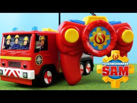 Feuerwehrmann Sam Spielzeug - Feuerwehrmann Sam Figur / RC Feuerwehrfahrzeug Jupiter   Werbung