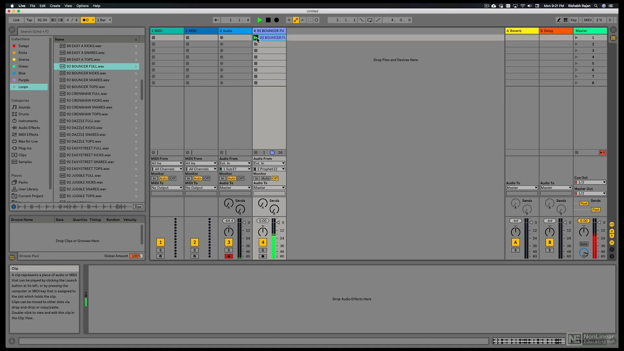 Ableton Live 10 Basics: Recording Audio In Session View