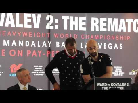 ANDRE WARD v SERGEY KOVALEV 2 - OFFICIAL **FULL & COMPLETE** PRESS CONFERENCE FROM NEW YORK CITY