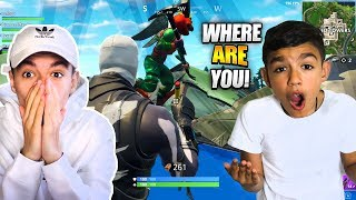 Hilarious Fortnite Hide N Seek Troll On 10 Year Old Little Brother! RAGE!