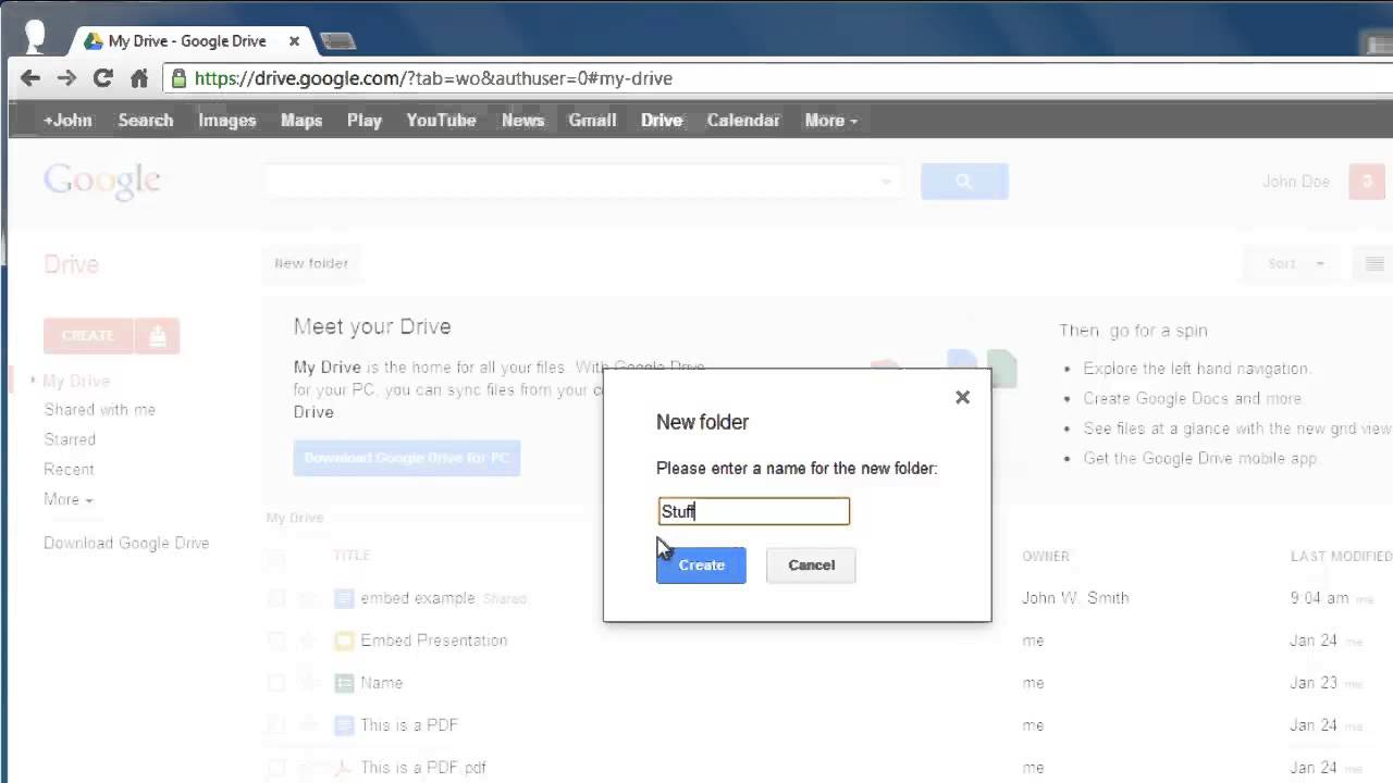 How To Create Google Docs Folder YouTube - When was google docs created