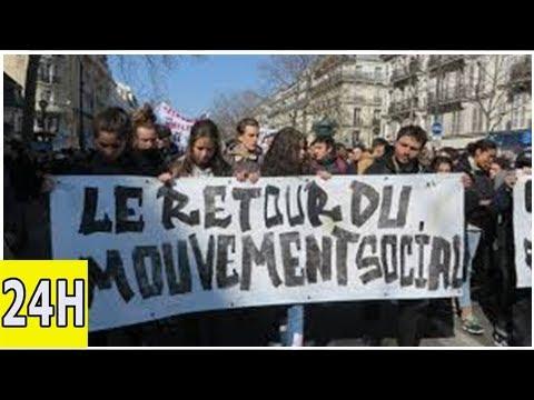 Lycéens et étudiants manifestent à paris | brèves | alterinfonet.org agence de presse associative
