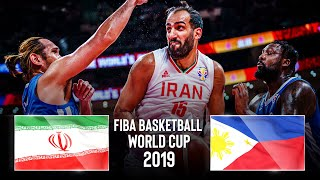 🔴 - Iran 🇮🇷 v Philippines 🇵🇭 - Classic Full Games |  FIBA Basketball World Cup 2019