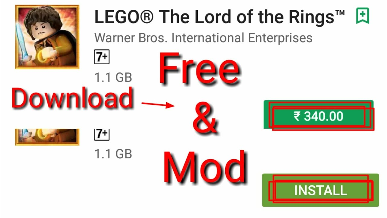 lego lord of the rings mod download