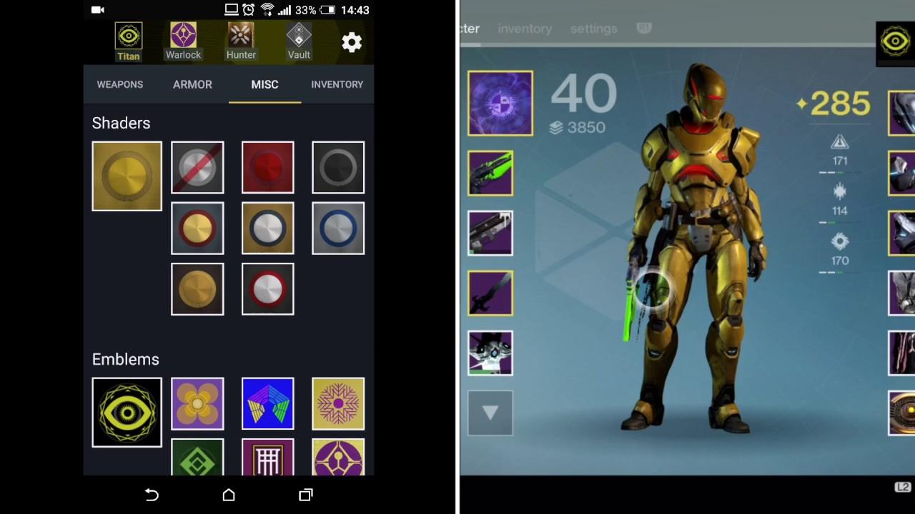 The Vault: Item Manager Application for Destiny – Transfer