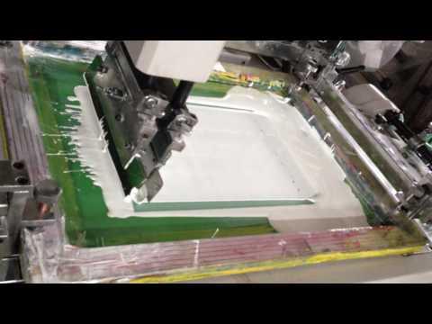 320 reel type adhesive label screen printing machine
