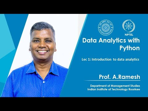 Lec 1, Introduction To Data Analytics