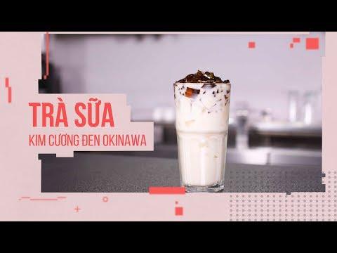 Cách làm Trà Sữa Kim Cương Đen Okinawa NGON KHÓ CƯỠNG | Hướng Nghiệp Á Âu