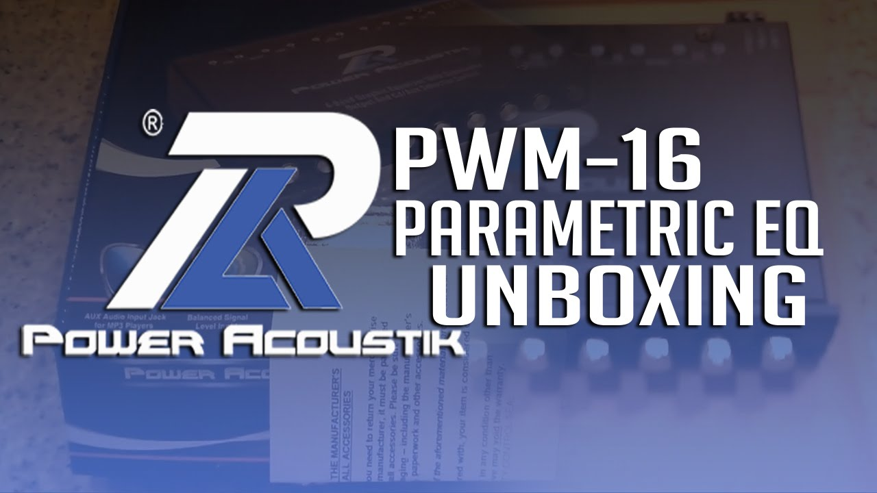 Power Acoustik Equalizer Wiring Diagrams Schematic Pd 710 Wire Diagram Unboxing Pwm 16 Parametric Youtube Headrest Dvd Player