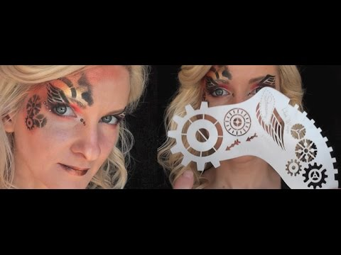 Hot Wingz Steam Punk Stencil Tutorial and Design