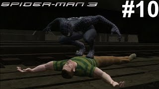Spider-Man 3 PS3 Gameplay #10 [Black Suit Spidey vs Sandman]