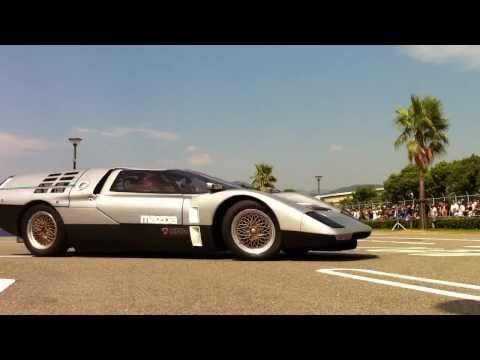 Mazda RX500 & Cosmo Sport demo-run Hiroshima Marina-Hop
