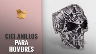 Top 10 Ventas Cici 2018: CICI TNASO Stainless Steel Skull Rings for Men Women, Titanium Skull Biker