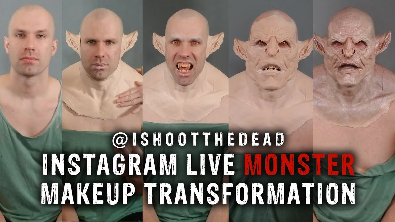 INSTAGRAM LIVE Monster Makeup Transformation!!