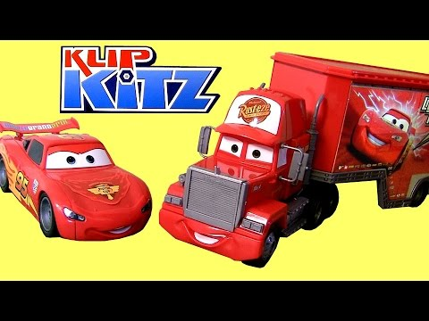 KlipKitz CARS Mack Truck & Lightning McQueen Building Blocks DisneyPixarCars Same as Lego MegaBloks