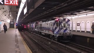 NYC Subway HD 60fps: Late Night Special Moves @ 181st & 190th Streets (Garbage & Work Trains, R179)