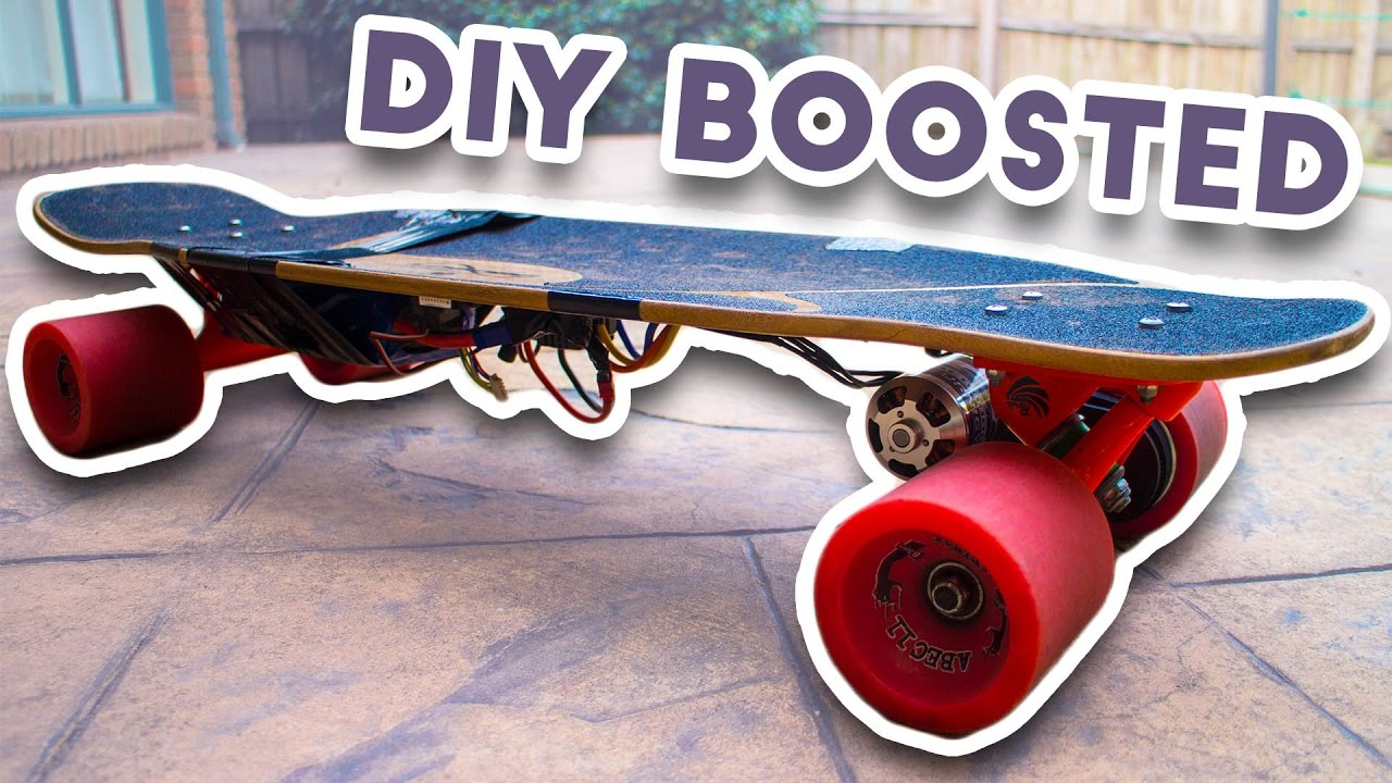 homemade boosted board diy electric skateboard youtube. Black Bedroom Furniture Sets. Home Design Ideas