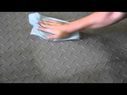 Cleaning - Garage Floor Tiles by hand