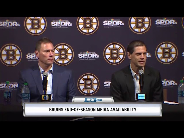 Bruce Cassidy, Don Sweeney Bruins End Of Season Press Conference
