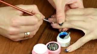 Дизайн ногтей с жидкими камнями в обрамлении кристаллов СВАРОВСКИ (swarovski)