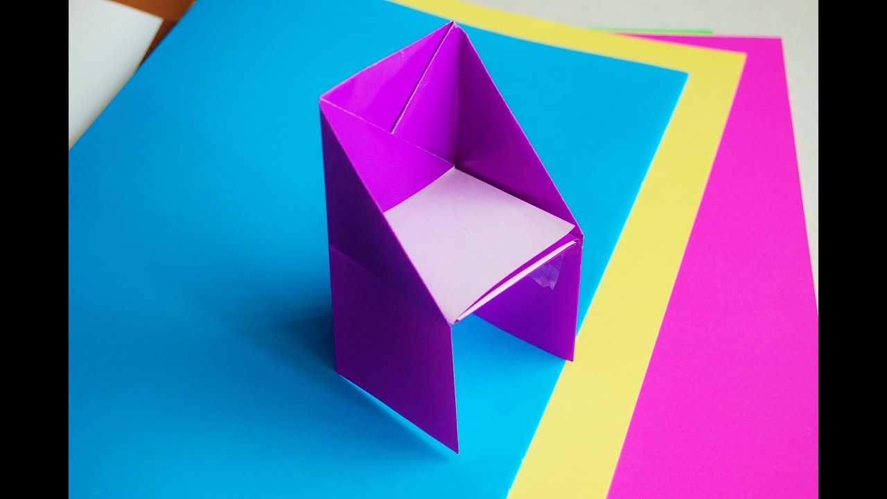how to make an origami chair youtube