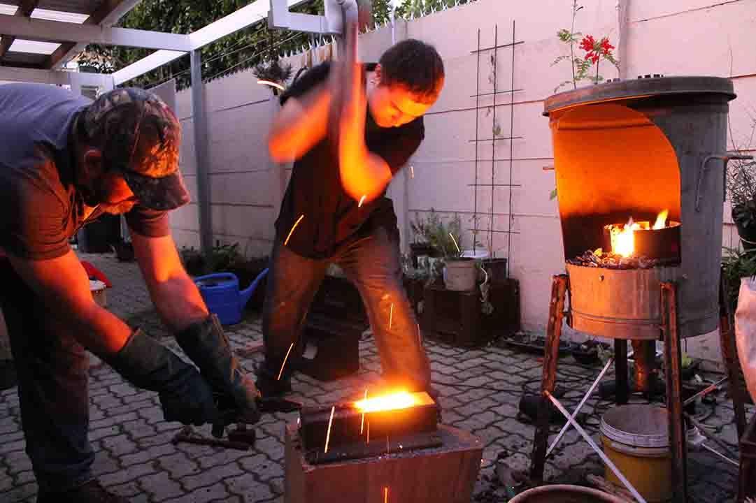 how to make a backyard forge