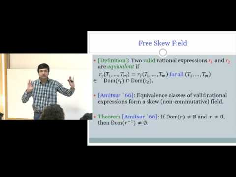 Ankit Garg: A deterministic poly time algorithm for rational identity testing