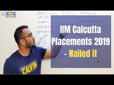 IIM Calcutta Placements 2019 - Nailed It