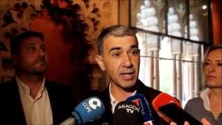 """Juan Martín (CHA), Arcos Aljafería: """"DGA solo se mueve cuando el pueblo aragonés está detrás"""""""