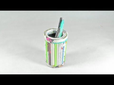 Cara Membuat Tempat Pensil dari Barang Bekas