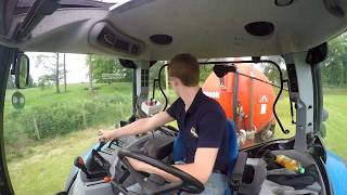 Carting Slurry - New Holland T6070 - GoPro HD