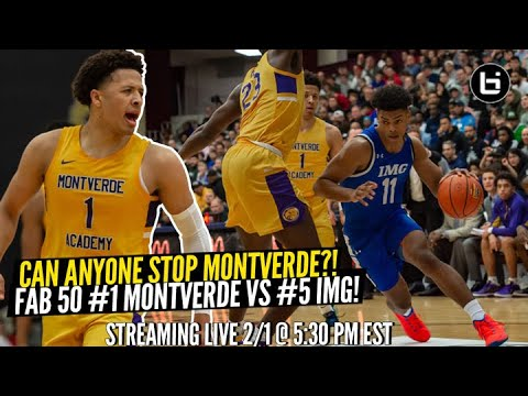Can Anyone Stop Montverde?!? FAB 50 #5 IMG vs #1 Montverde Streaming Live!