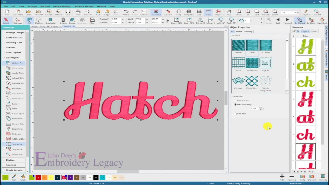 Embroidery Font Magic - ESA Flexi Fonts & Fills    You've Never Seen  Embroidery Fonts Do This!