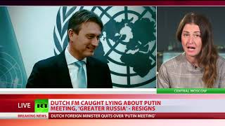 Dutch FM resigns after admitting lie about Putin's 'Great Russia' ambitions