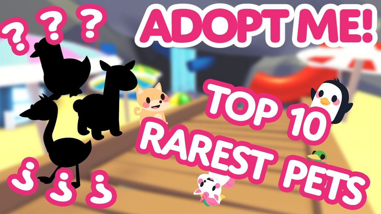 Top 10 Rarest Pets Adopt Me On Roblox Youtube
